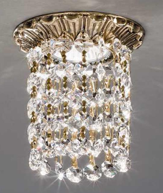 Faretto a incasso in ottone con cristalli Art. Z15