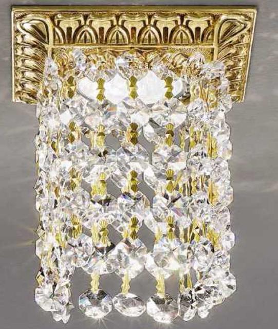 Brass recessed spotlight with crystals Art. Z13