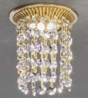 Brass recessed spotlight with crystals Art. Z14