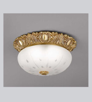 Brass ceiling light with frosted glass Art. 0530