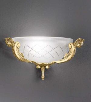 Applique in ottone e vetro satinato Art. 521/2A