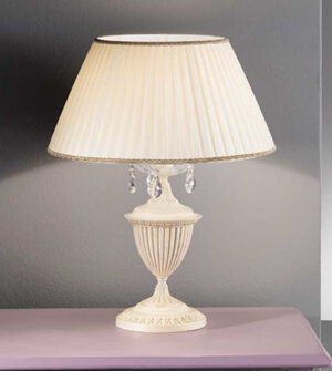 Brass table lamp with crystals and lampshade Art. 910/ 1L