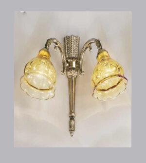 Applique in ottone e vetro Art.572/2A AM