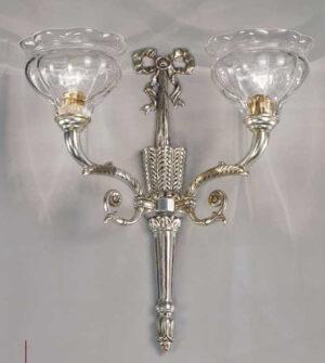 Applique in ottone e vetro Art. 573/2A TR