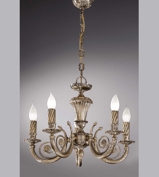 Brass pendant chandelier Art. 710/5