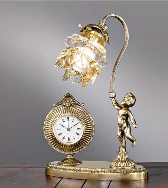 Table clock with lamp Art. M4 AM