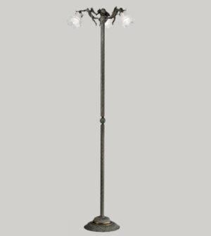 Lampada da terra in ottone e vetro Art. P2081/3ST
