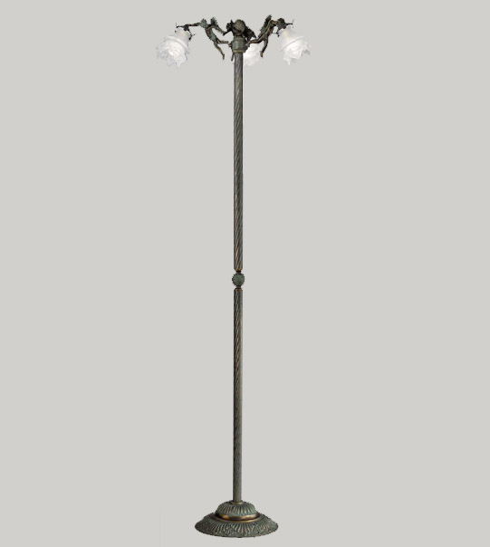 Floor lamp in brass and glass Art. P2081/3ST